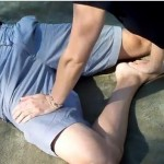 how to massage leg, foot, calf, thigh thai massage style hip opener