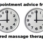 advice from a tired massage therapist
