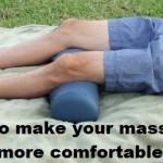 Massage Monday bolster for lower back pain