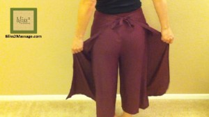 how to wear Thai wrap pants 1 - back