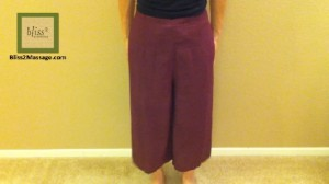 how to wear Thai wrap pants 1 - front