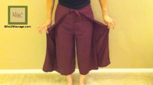 how to wear Thai wrap pants 2 - front