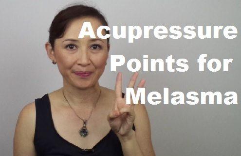 massage monday acupressure points for melasma