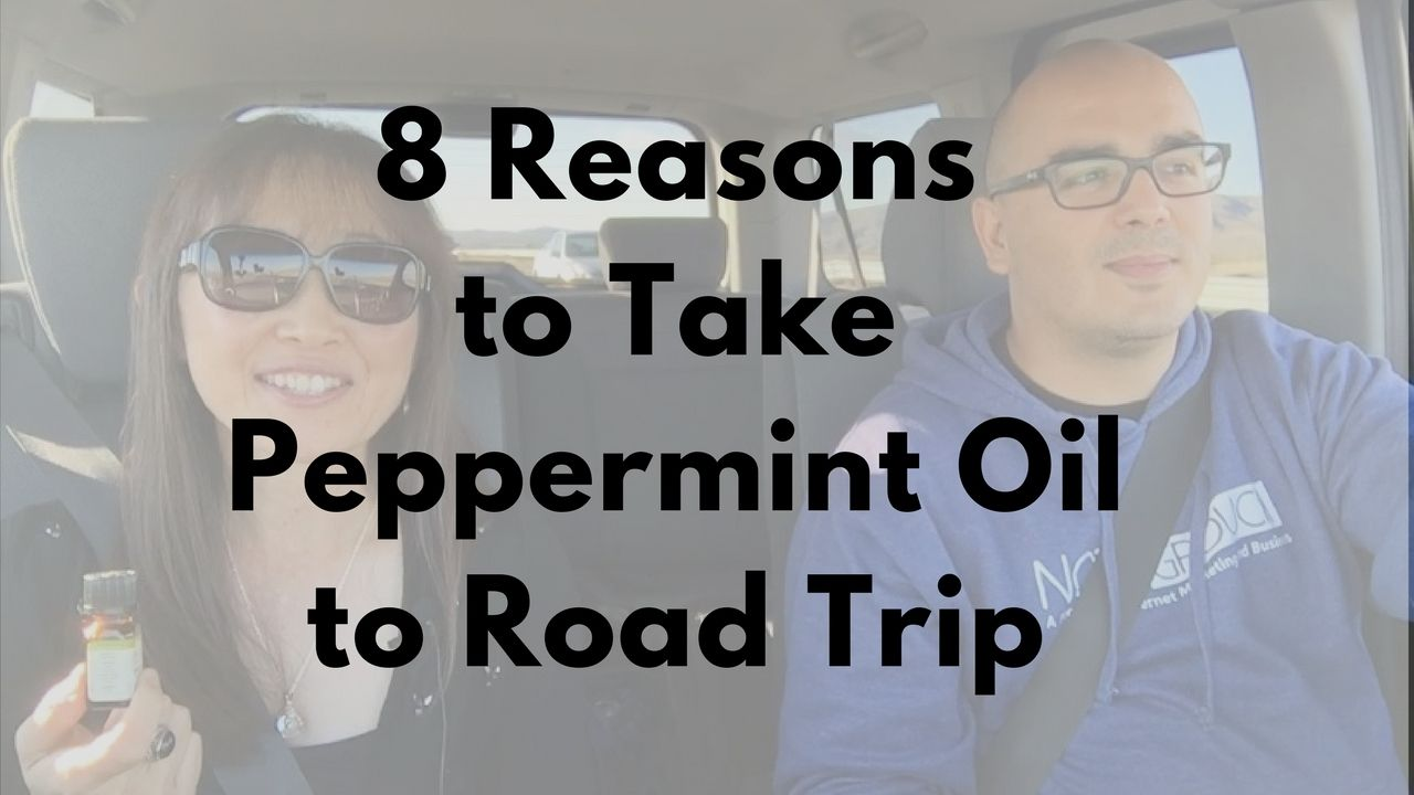 massage monday peppermint essentiall oil for road trip