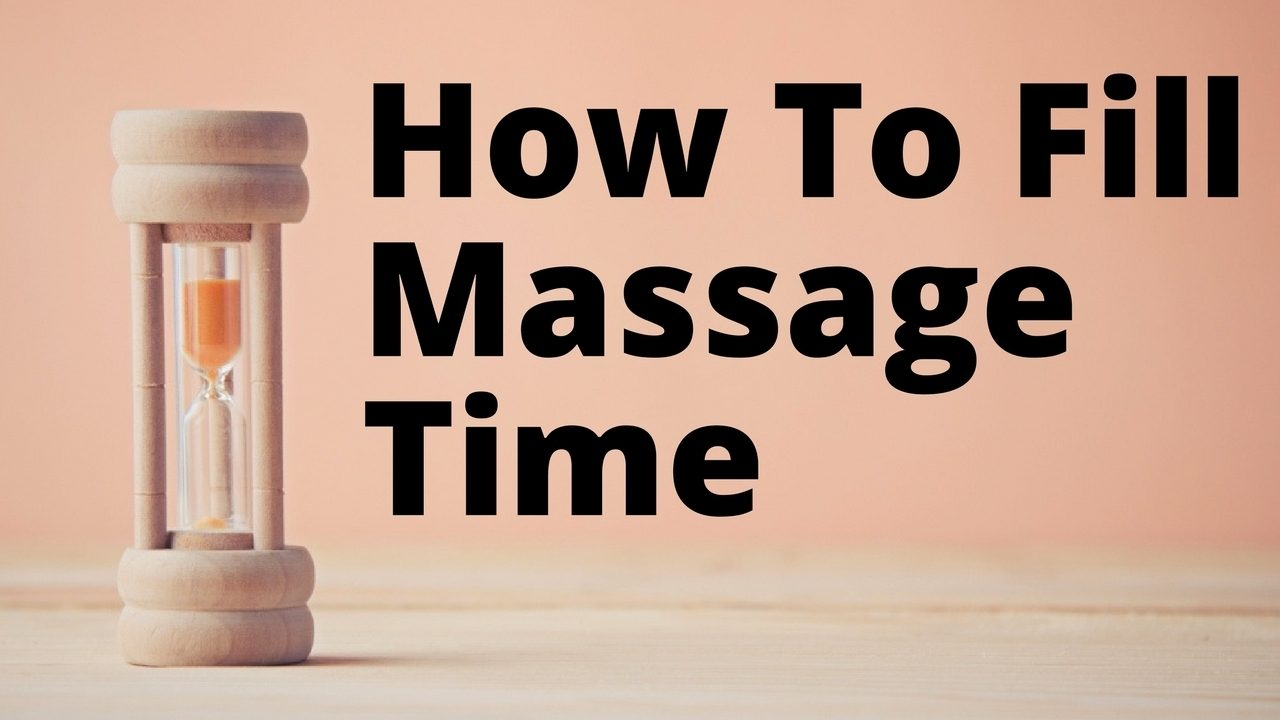 Massage Monday how to fill couples massage time